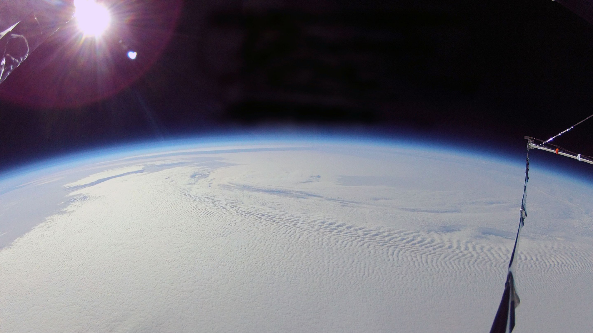 The view from SPIDER at float altitude over Antarctica.